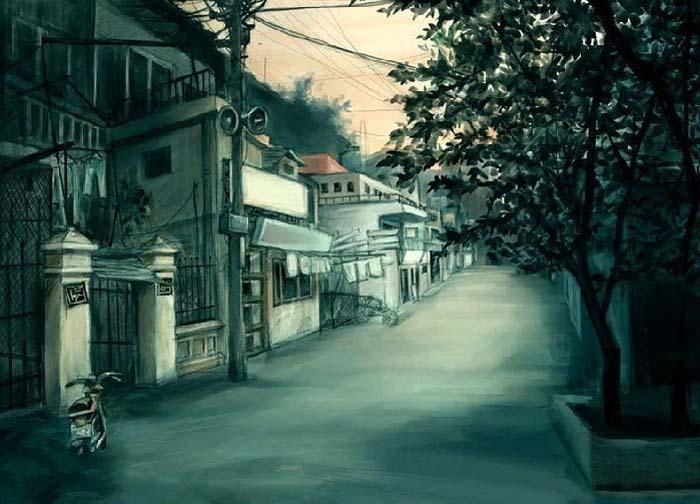 风居住的街道